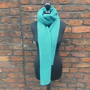 Turquoise Handwoven Cashmere Shawl