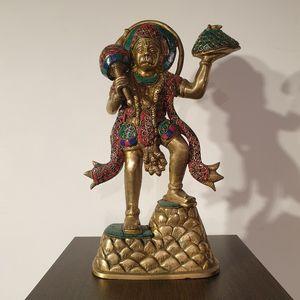 Turquoise Stone Set Hanuman