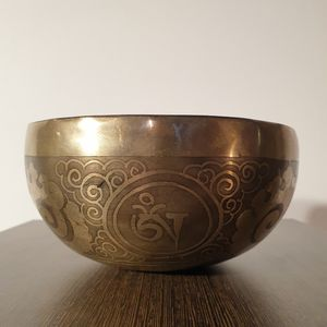 Hand Hammered Hamd Engraved Singing Bowl