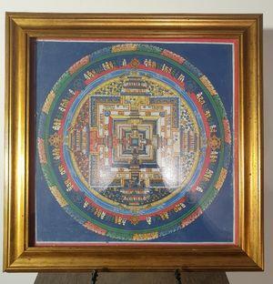 Gold Framed Kalachakra Mandala
