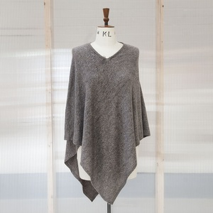 Brown Cashmere Poncho