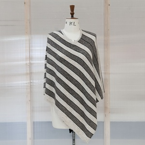 Brown Stripped Poncho