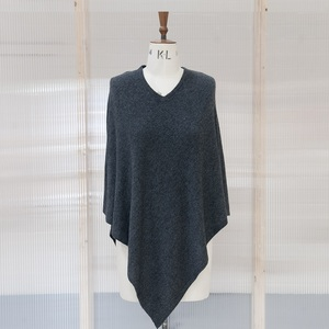 Charcoal Cashmere Poncho