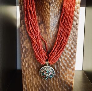 Nepalese Silver Pendant Necklace