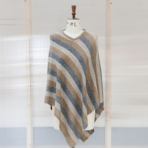 Stripped Cashmere Poncho