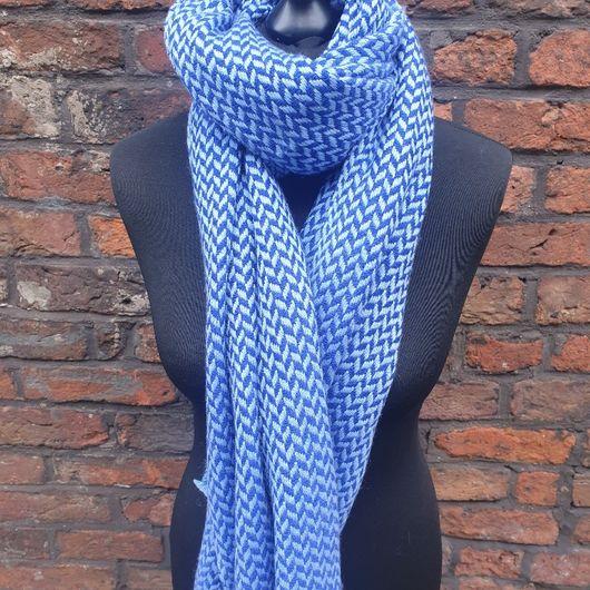 Blue Cashmere Handwoven Shawl