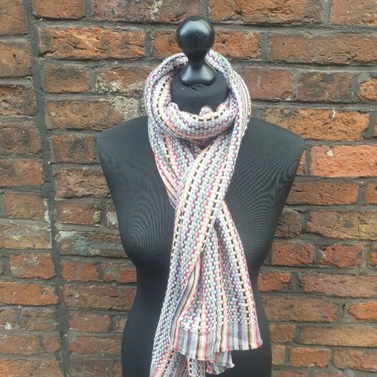 Colourful Knitted Cashmere Scarf
