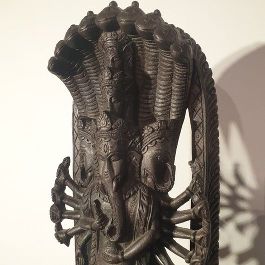 Hand carved woode statue of Lord Ganesh
