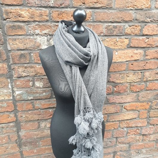Charcoal cashmere shawl