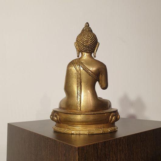 Brass Cast Statue Of The Buddha Amoghshiddhi