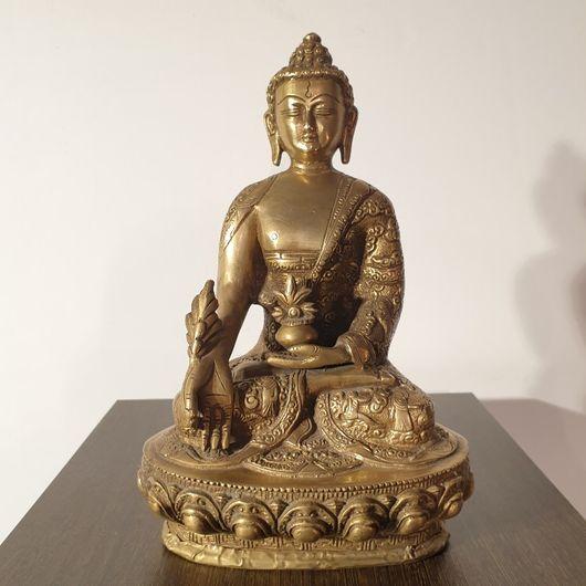 Brass Cast Carved Medicine Buddha