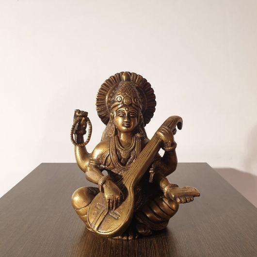 Brass Statue of Saraswati