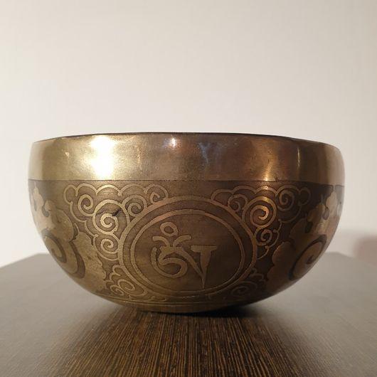 Hand Hammered, Hand Engraved Singing Bowl