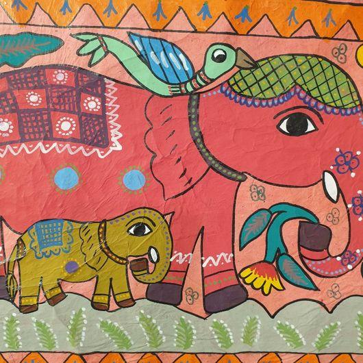 Elephant Family Mathila Art