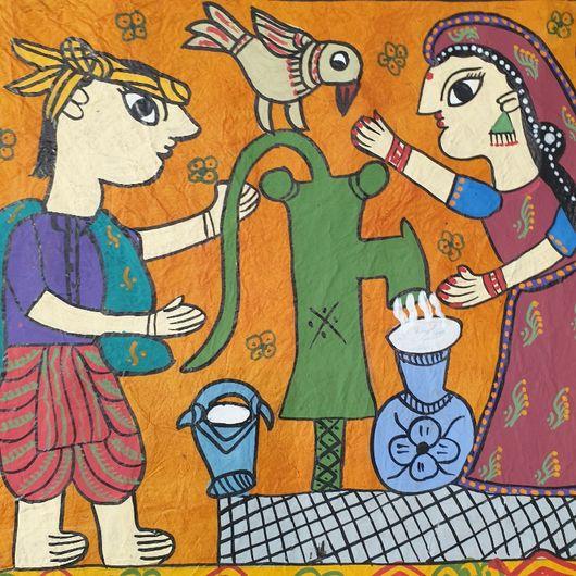 Village Water Pump Mathila Painting