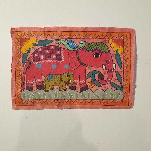 Elephant Family Mithila Art