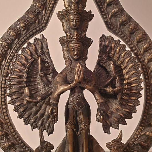 Brass Cast Statue of Avalokiteswara