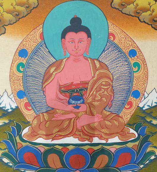Hand painted Buddha Amitabha Thangka